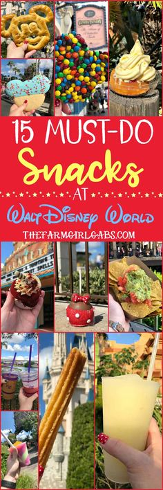 Eat your way around the happiest place on earth and try a few of these 15 Must Eat Snacks At Walt Disney World. Disney World Packing, Disney World Food, Disney World Parks, Disney World Resorts, Disney Travel, Disney World Tips And Tricks, Disney Tips, Disney Recipes, Disney Disney