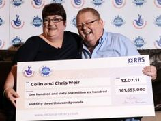 """Weir family couple won EuroMillions lottery back in They scooped 000 Chris and Colin decided to spend a big chunk of winnings to the charity. For instance, they sponsored the local football team """"Patrick Thistle"""". Lottery News, Lottery Games, Lottery Winner, Winning The Lottery, Win Online, Best Online Casino, Online Gambling, National Lottery"""
