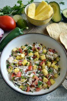 Cocina – Recetas y Consejos Seafood Dishes, Fish And Seafood, Ceviche Recipe, Spanish Cuisine, Mexican Food Recipes, Ethnic Recipes, Healthy Salads, Pasta Salad, Potato Salad