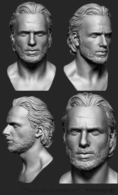 Walking dead,  head sculpt by  Grassetti