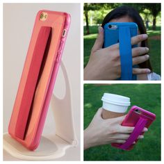 iPhone 6 6 Case phone case w/ SELFIE strap prevents drops, exercise, text & hold everything with just one hand by GeekGripz