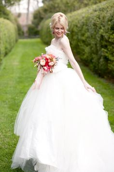Ruffled Ballgown Wedding Dress from Chaviano Couture