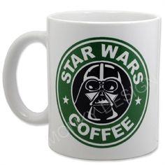 Caneca Coffee Star Wars Darth Vader - Presentes Criativos e Decoração Criativa de Sala e Quarto - Monky Design