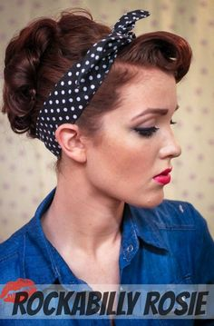 SIMPLE. Pretty. Like. VINTAGE. The Freckled Fox - a Hairstyle Blog: Sweetheart Hair Week: Tutorial #3 - Rockabilly Rosie