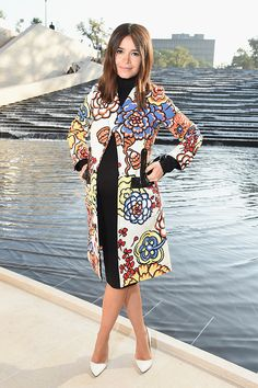 Miroslava Duma [Мирослава Дума] before the Louis Vuitton ss2015 show. #PFW l September, 2014