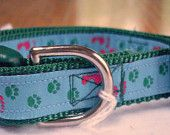 "Walking The Dog Collar.  This collar reminds me of the poem, ""Footprints in the Sand"".  Shows how important dogs can be for me."