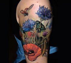 flower tattoo by Halasz Matayas