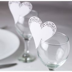 write as name cards Contemporary Heart White Glass Place Card - Place Cards & Holders - Wedding Stationery - Wedding Wedding Name Cards, Wedding Table Names, Wedding Favours, Wedding Stationery, Wedding Invitations Elegantes, Heart Place, 1 Place, Festa Party, Wedding Places