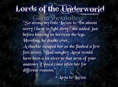 Book Quotes and Lyrics: Lords of the Underworld: The Darkest Kiss and Quotes