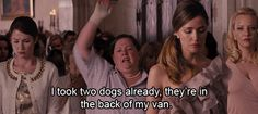 """""""How many dogs did you take?!"""" """"Nine. I took nine."""" hahah favorite part"""