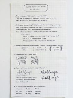 A Guide to pretty notes - Click through to see 25 AMAZING examples of PERFECT handwriting!