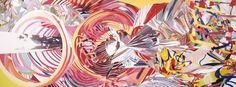 """James Rosenquist (Pop art american) """"Stoweaway peers out at The speed of light"""" 2000 Óleo sobre lienzo Pop Art Studio, Art Pop, Pop Art Movement, Museum Of Contemporary Art, Cultura Pop, Light Art, American Artists, Oil On Canvas, Art Pieces"""