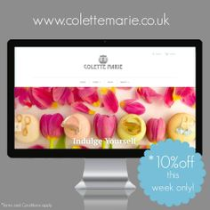 10% off, this week only! To celebrate our new launch, pop over to http://www.colettemarie.co.uk  to get this fantastic offer.
