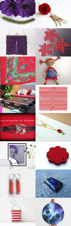 Purple and Red by Laura P. on Etsy--Pinned with TreasuryPin.com