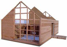 Casa Galpon - Cazu Zegers - Tecno Haus Bunk Beds, Loft, Outdoor Structures, Tecno, Image, Furniture, Home Decor, Prefab Homes, Log Homes