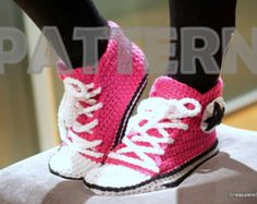 Women Converse SIZE 8-9 US (38-39 EU)Sneakers Crochet Pattern