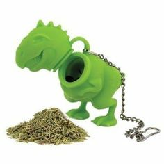 Have a wild cup of tea with this Tea Rex Tea Infuser! Unlike other loose leaf tea infusers, this prehistoric fellow is ready to eat your tea leaves and brew you the perfect cup of tea! Simply put loose tea inside the Tea Rex Infuser, close and hang f Tea Strainer, Tea Infuser, Tea Kettles, Perfect Cup Of Tea, Tea Gifts, How To Make Tea, Tea Accessories, Kitchen Accessories, Fashion Accessories