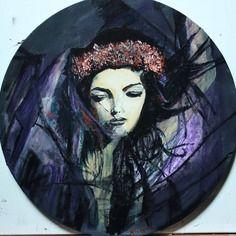 """""""anabelle"""" peinture acrylique sur toile coton"""