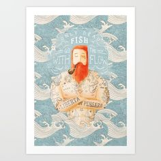 Buy Sailor Art Print by Seaside Spirit. Worldwide shipping available at Society6.com. Just one of millions of high quality products available.