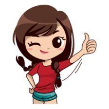 Alice in daily version – Stickers LINE Love Cartoon Couple, Cute Cartoon Pictures, Cute Cartoon Girl, Cute Love Cartoons, Funny Emoji, Cute Emoji, Cartoon Jokes, Anime Stickers, Cute Stickers