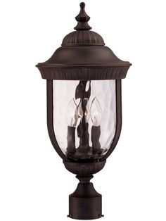 Savoy House Lighting Castlemain 3 Light 22 inch Black with Gold Outdoor Post Lantern in Como Black Outdoor Wall Lighting, Wall Sconce Lighting, Lantern Lighting, House Lighting, Outdoor Decor, Lamp Post Lights, Wall Lights, Traditional Lanterns, Outdoor Post Lights