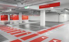 dom-römer 停車場 Parking Lot, Car Parking, Firefighter Photography, Bar Design Awards, Signage Design, Restaurant Bar, Graphic Design, Interior Design, Architecture