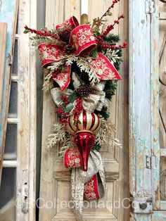 Christmas Swag Door Swag Door Decor Wreath by RcollectionandCo
