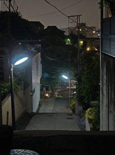 夜散歩のススメ「山王厳島神社へ降りる階段」東京都大田区