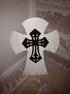 Small Wooden Wall Cross by CutieCrosses on Etsy, $15.00