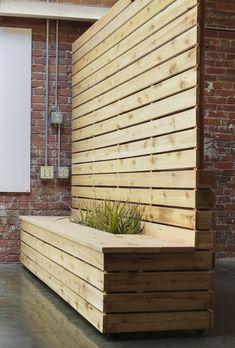 cedardivider - All About Balcony Garden Privacy, Outdoor Privacy, Backyard Privacy, Backyard Garden Design, Patio Design, Backyard Patio, House Design, Movable Walls, Privacy Walls