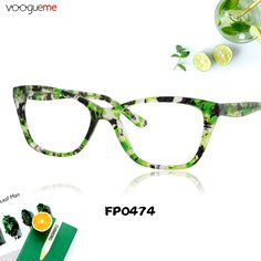f99b4a77e736 Riva Green Floral Cat Eye Glasses There s nothing like a pair of dramatic  cat-