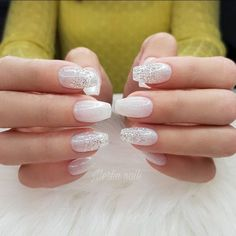 47 Pretty mix and match pink nail art designs - Frosted❄ombre❄natural nails ,nail art design ideas to try ,mix and match nail art ideas #nails #nailart #manicure #pinknail #glitternails