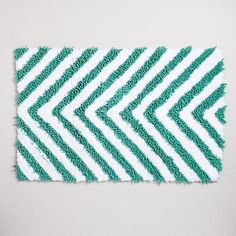 One of my favorite discoveries at WorldMarket.com: Chevron Chenille Bath Mat