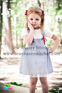 Dorothy Costume  Wizard of Oz for Infants / by SewSnazzyStitches, $35.00
