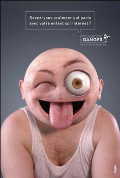 Smileys humains Campagne de sensibilisation Internet détourne des Smileys