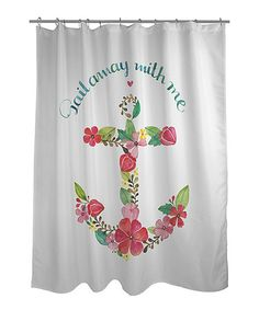 Gotta make this into a pillow for Peter Cavanaugh. So sweet! Look at this #zulilyfind! White 'Sail Away' Shower Curtain #zulilyfinds