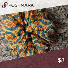 Adorable print  floral hair clip or pin Adorable print blue, yellow and red hair clip or pin Accessories Hair Accessories