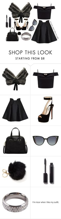 """""""Russian Royalty"""" by tessforman ❤ liked on Polyvore featuring Prada, Lipsy, Paper London, Furla, Fendi, Chanel and Lucky Star Jewels"""