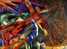 Fate of the Animals. German Expressionist. Der Blaue Reiter. Franz Marc.