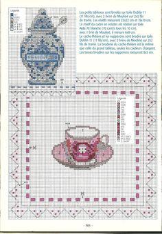 porcelaines 2 *point de croix * cross stitch