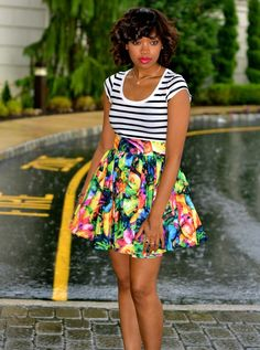 Zara Stripes + ASOS Floral