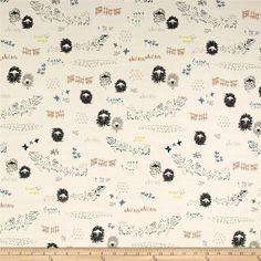 """$17/yd.  58""""w 95 cotton/5 spandex jersey knit Art Gallery Lambkin Jersey Knit Lambscape Yonder"""