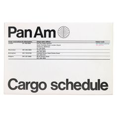 Cargo schedule leaflet | Alan Fletcher remember like this