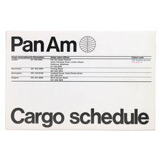 Cargo schedule leaflet | Alan Fletcher remember like this