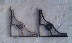 Chain and Sprocket Shelf brackets by MotoMetalFab on Etsy, $100.00