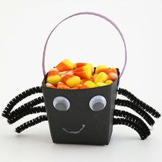 Hosting a spook-tacular party? Your guests will love gobbling the goodies from these inventive treat bags and containers you can craft in minutes!