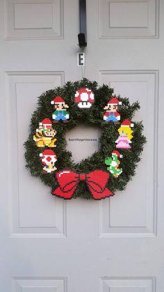 Mario Christmas Wreath Super Mario Christmas Wreath Super