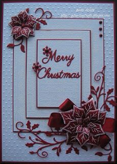 handmade christmas cards with poinsettias Homemade Christmas Cards, Christmas Cards To Make, Xmas Cards, Homemade Cards, Handmade Christmas, Holiday Cards, Cards Diy, Poinsettia Cards, Christmas Poinsettia