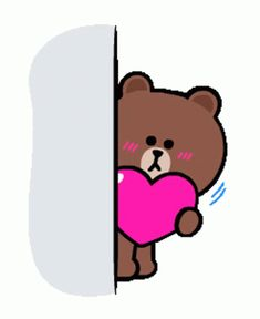 Cute Bunny Cartoon, Cute Kawaii Animals, Cute Love Cartoons, Cute Love Memes, Cute Love Gif, Cute Love Pictures, Cony Brown, Brown Bear, Love Heart Gif