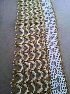 Turkish crochet to loo Zig Zag Crochet, Crochet Lace Edging, Thread Crochet, Hand Crochet, Diy Crafts Crochet, Crochet Home Decor, Bead Crafts, Diy Crafts Images, Crochet Designs